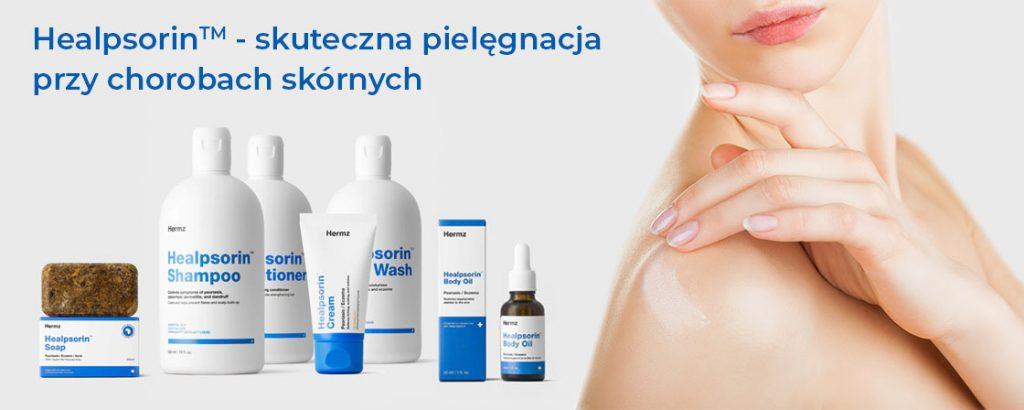 preparaty Healpsorin do pielęgnacji skóry przy chorobach takich jak łuszczyca, azs i łzs